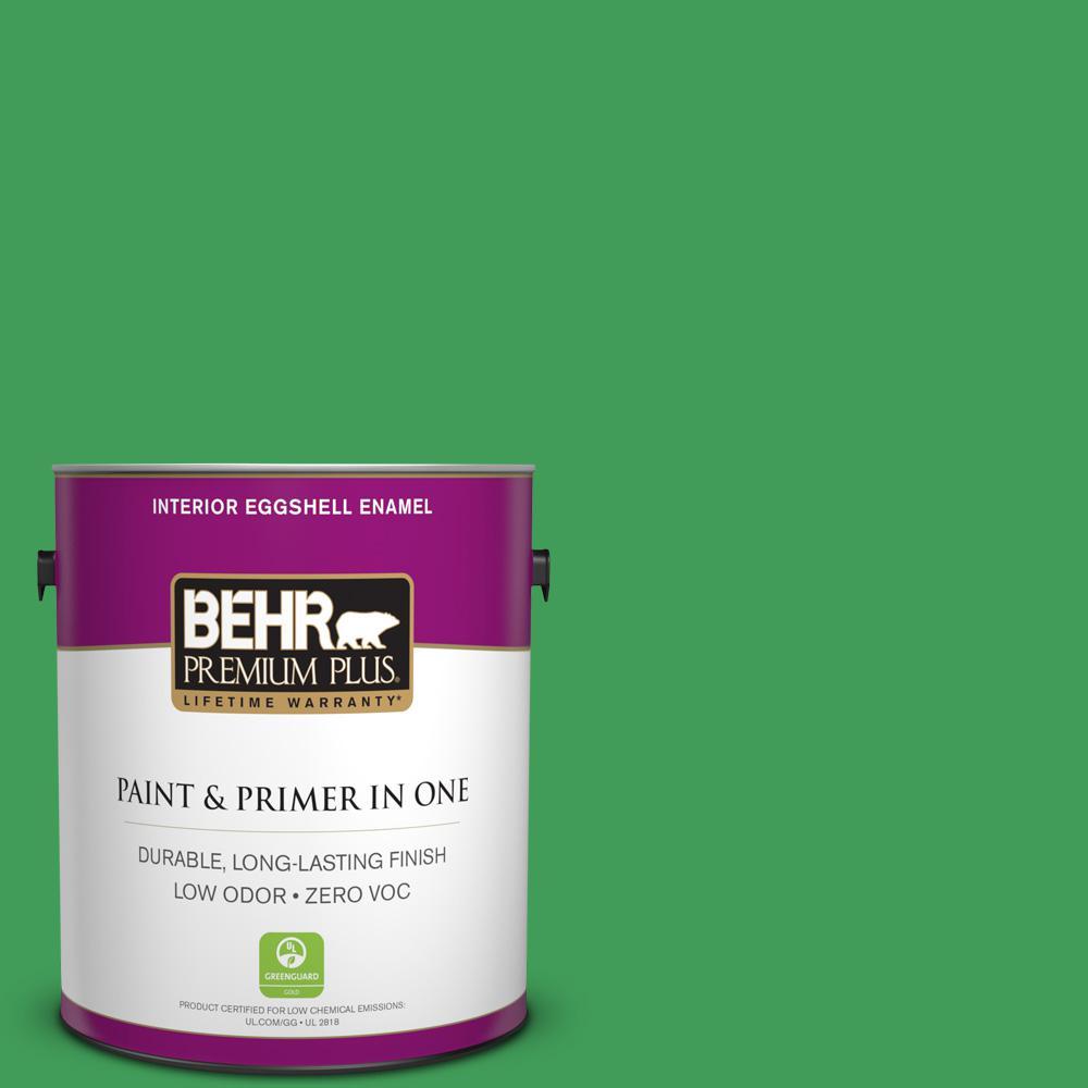 BEHR Premium Plus 1-gal. #P400-6 Clover Patch Eggshell Enamel Interior Paint