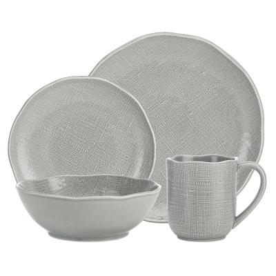 Tela 16-Piece White Dinner Set