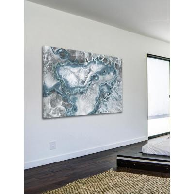 "40 in. H x 60 in. W ""Icy Layers"" by Marmont Hill Printed Canvas Wall Art"
