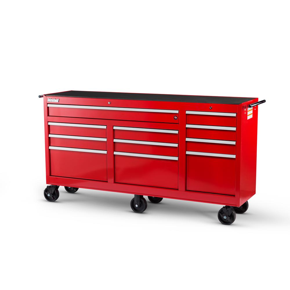 Workshop Series 73 in. 11-Drawer Cabinet, Red