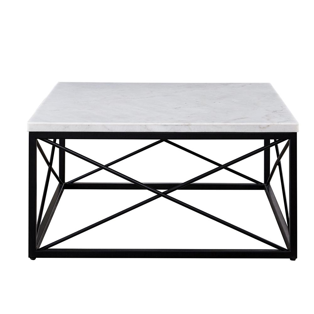 White Marble Top Coffee Table Rectangle: Steve Silver Skyler White Marble Top Square Cocktail Table