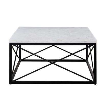 Skyler White Marble Top Square Cocktail Table
