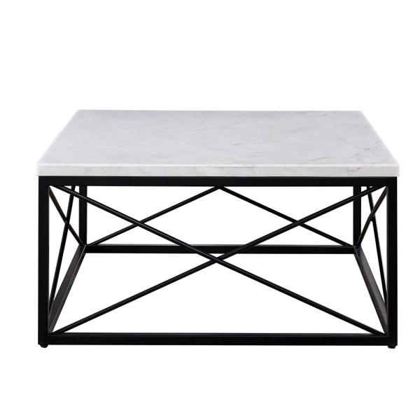 Marble And Silver Coffee Table.Steve Silver Skyler White Marble Top Square Cocktail Table Sk200c