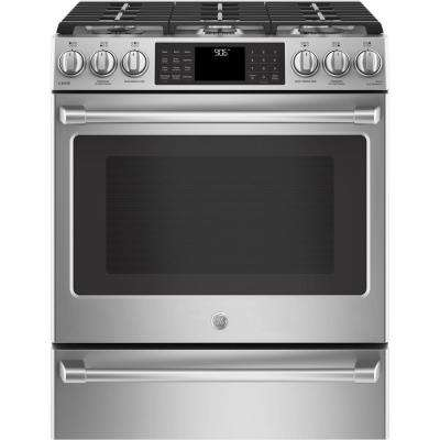 5.6 cu. ft. Smart Slide-In Gas Range with Self-Cleaning Convection Oven and WiFi in Stainless Steel