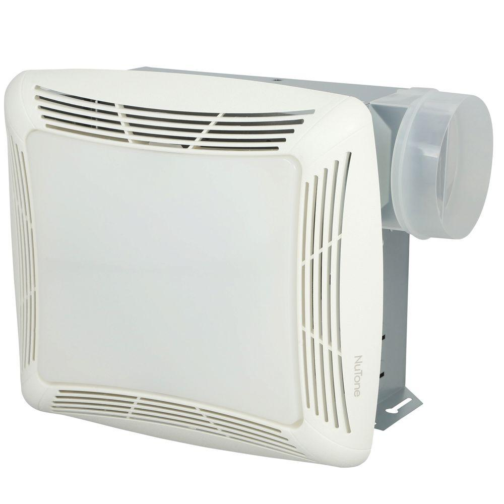Broan-NuTone 70 CFM Ceiling Bathroom Exhaust Fan with Light, White Grille and Light