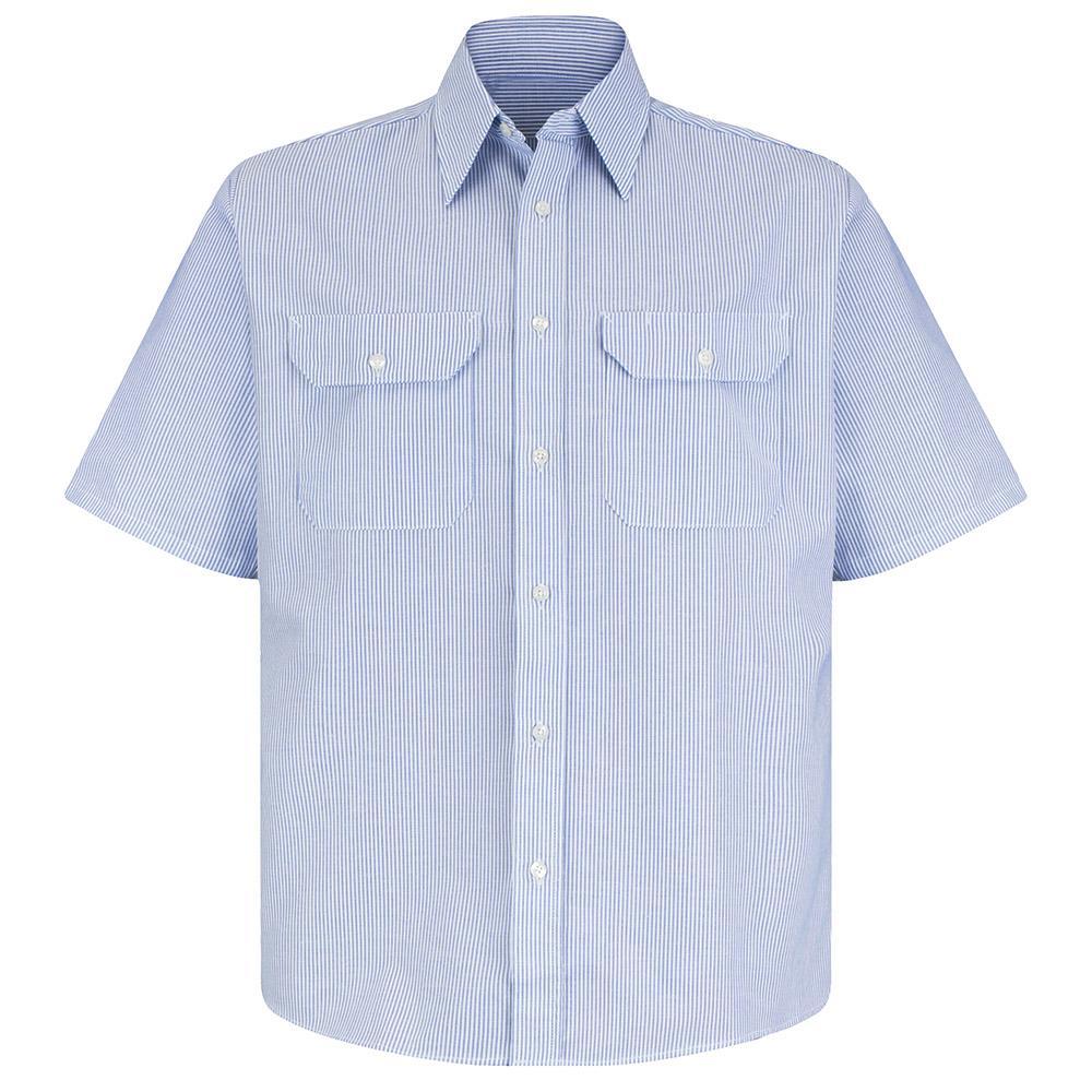 b4ff1de3580816 Red Kap. Men's Size 4XL (Tall) White/Blue Pin Stripe Deluxe Denim Shirt.  Write a review