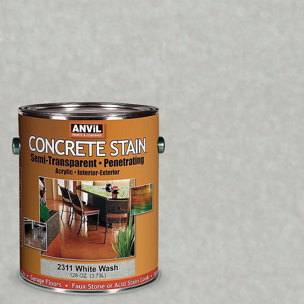 ANViL 1-gal. White Wash Semi-Transparent/Translucent Concrete Stain