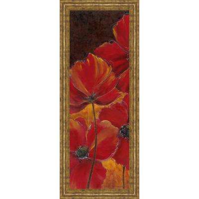 "18 in. x 42 in. ""Midnight Poppy I"" by Richard Henson Framed Printed Wall Art"