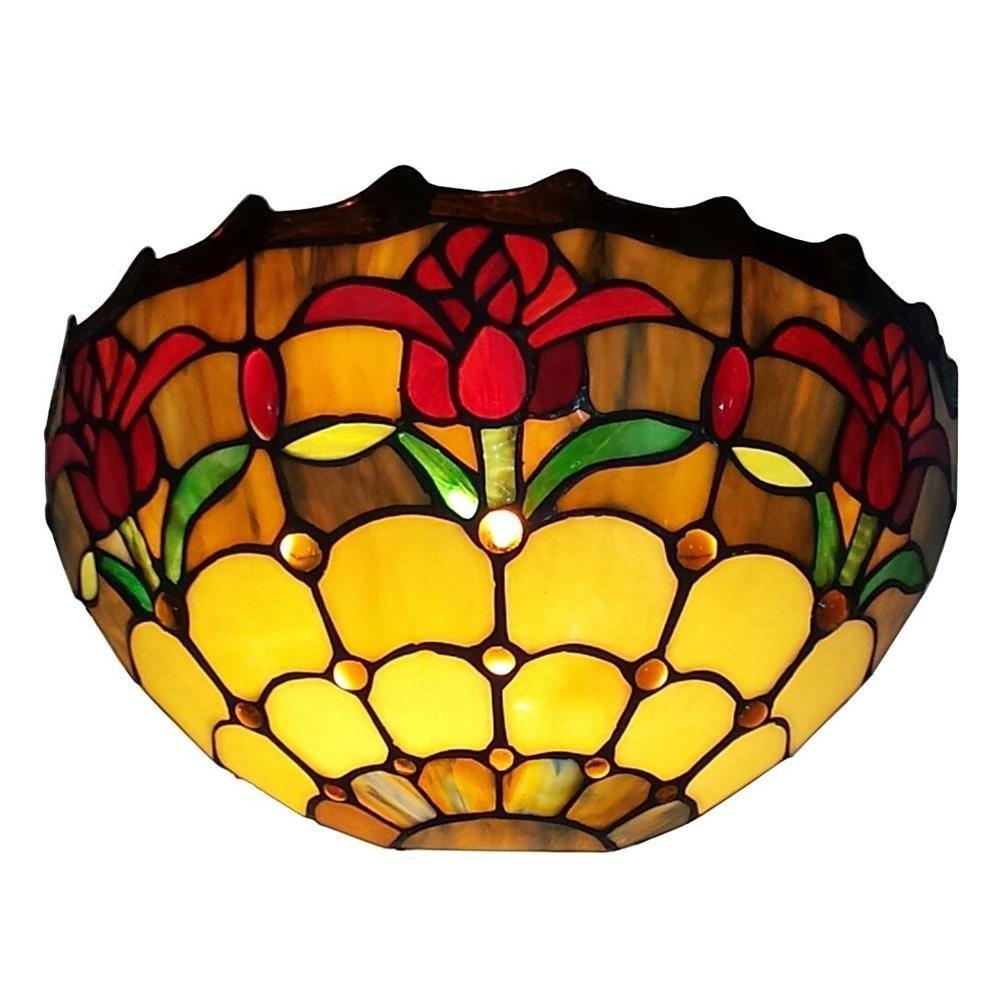 Amora Lighting Tiffany Style Tulips Design Wall Sconce Lamp ...