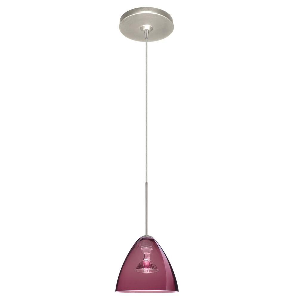 Filament Design 1-Light 7 in. Satin Nickel Pendant-DISCONTINUED
