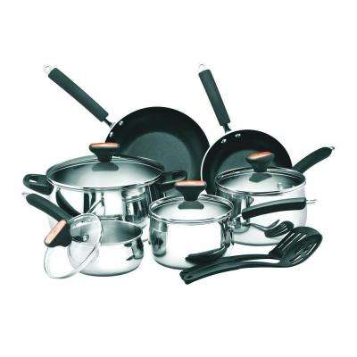 Signature 12-Piece Stainless Steel Cookware Set with Lids