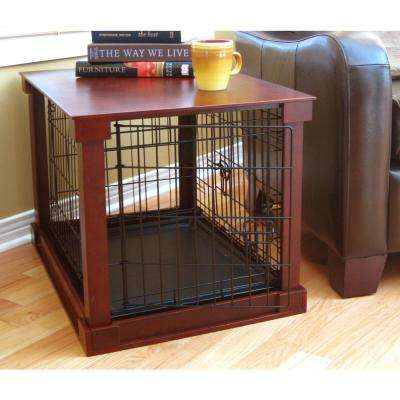 Dog Crate with Mahogany Cover - Large