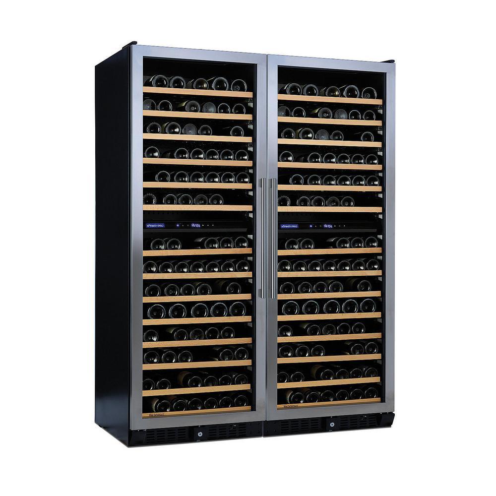 N'FINITY PRO Double LX 374-Bottle 52 in. Freestanding Wine Cellar