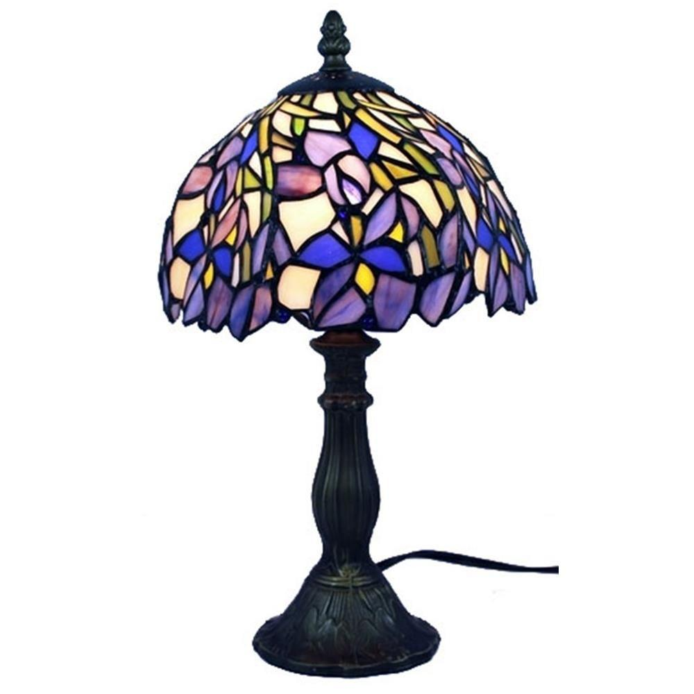 Attirant Amora Lighting 15 In. Tiffany Style Iris Table Lamp