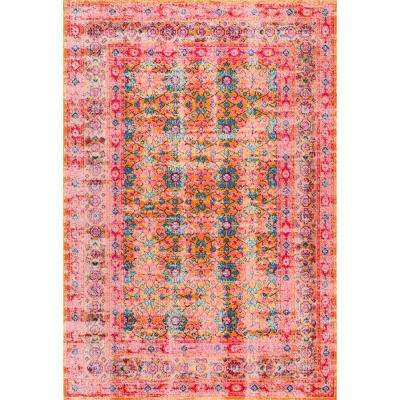 Mirella Vintage Orange 4 ft. x 6 ft.  Area Rug
