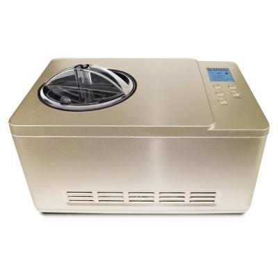 2.1 Qt. Stainless Steel Champagne Gold Electric Ice Cream Maker with Built-In Timer and Ice Cream Scoop