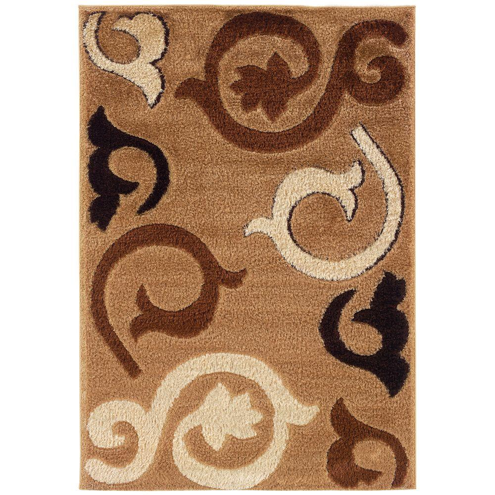 United Weavers Brant Wheat 5 ft. 3 in. x 7 ft. 6 in. Area Rug