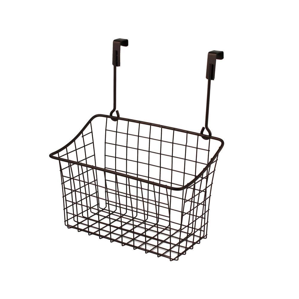 Spectrum Grid 10.125 in. W x 6.625 in. D x 11.25 in. H Over the Cabinet Medium Basket in Bronze