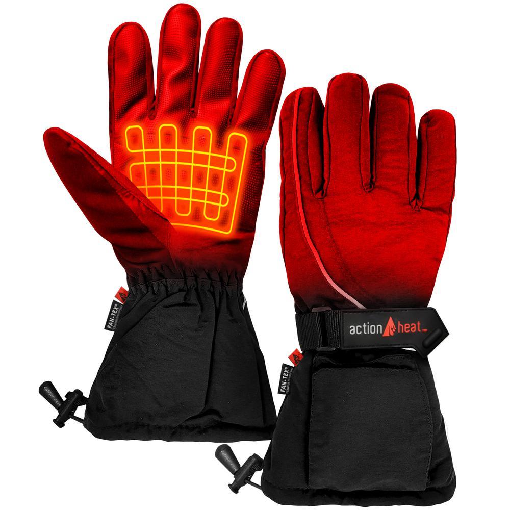 Men's Black AA Battery Heated Gloves
