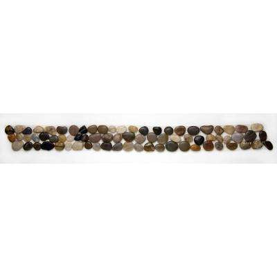 Anatolia Rumi 4 in. x 39 in. x 12.7 mm Natural Stone Pebble Border Mesh-Mounted Mosaic Tile (9.75 sq. ft. / case)