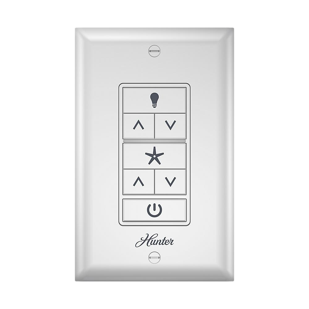 Hunter indoor white universal ceiling fan wall control 99375 the hunter indoor white universal ceiling fan wall control mozeypictures Choice Image