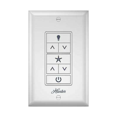 Indoor White Universal Ceiling Fan Wall Switch on