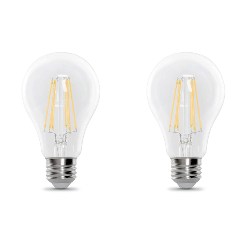Feit Electric 40w Equivalent Soft White A19 Clear Filament: Feit Electric 40-Watt Equivalent A19 Dimmable Filament CEC