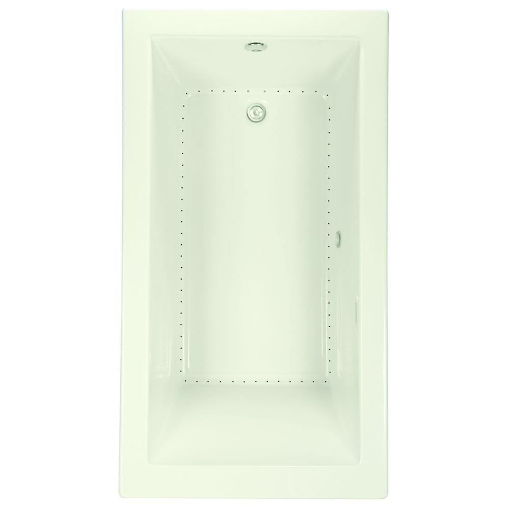 Serenity 34 - 66 in. Acrylic Reversible Drain Rectangular Drop-In Bathtub