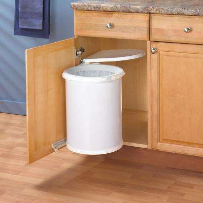 19.5 in. x 13.5 in. x 13 in. In Cabinet Pivot Out Trash Can