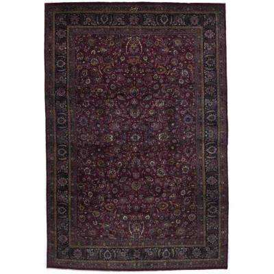 Mashad Red 13 ft. x 19 ft. Area Rug
