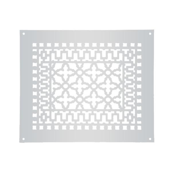 Reggio Registers Scroll 14 In X 10 In Aluminum Grille Without Mounting Holes Gray 1216 Anh The Home Depot