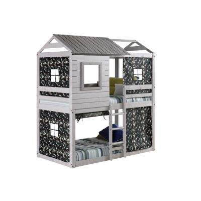 Deer Blind Green Camo Tent Twin Bunk Bed Loft