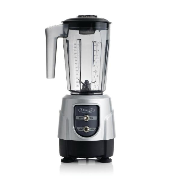 1 HP High/Low 48 oz. 2-Speed Silver Blender