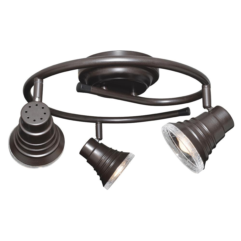 Madrid 1.5 ft. 3-Light Oil-Rubbed Bronze Integrated LED G-Rail Track Lighting