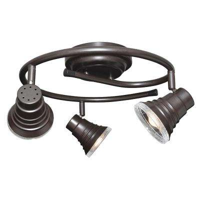 Madrid 1.5 ft. 3-Light Oil-Rubbed Bronze Integrated LED G-Rail Track Lighting Kit