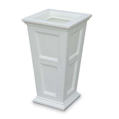 Fairfield 16 in. Square White Plastic Column Planter