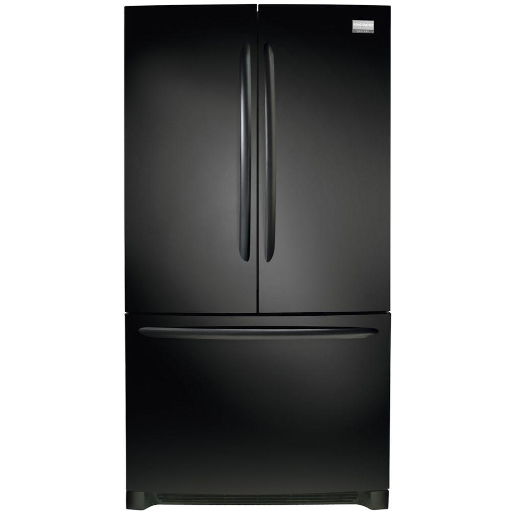 27.6 cu. ft. Non-Dispenser French Door Refrigerator in Black