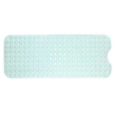 16 in. x 39 in. Extra Long Bath Mat in Light Green