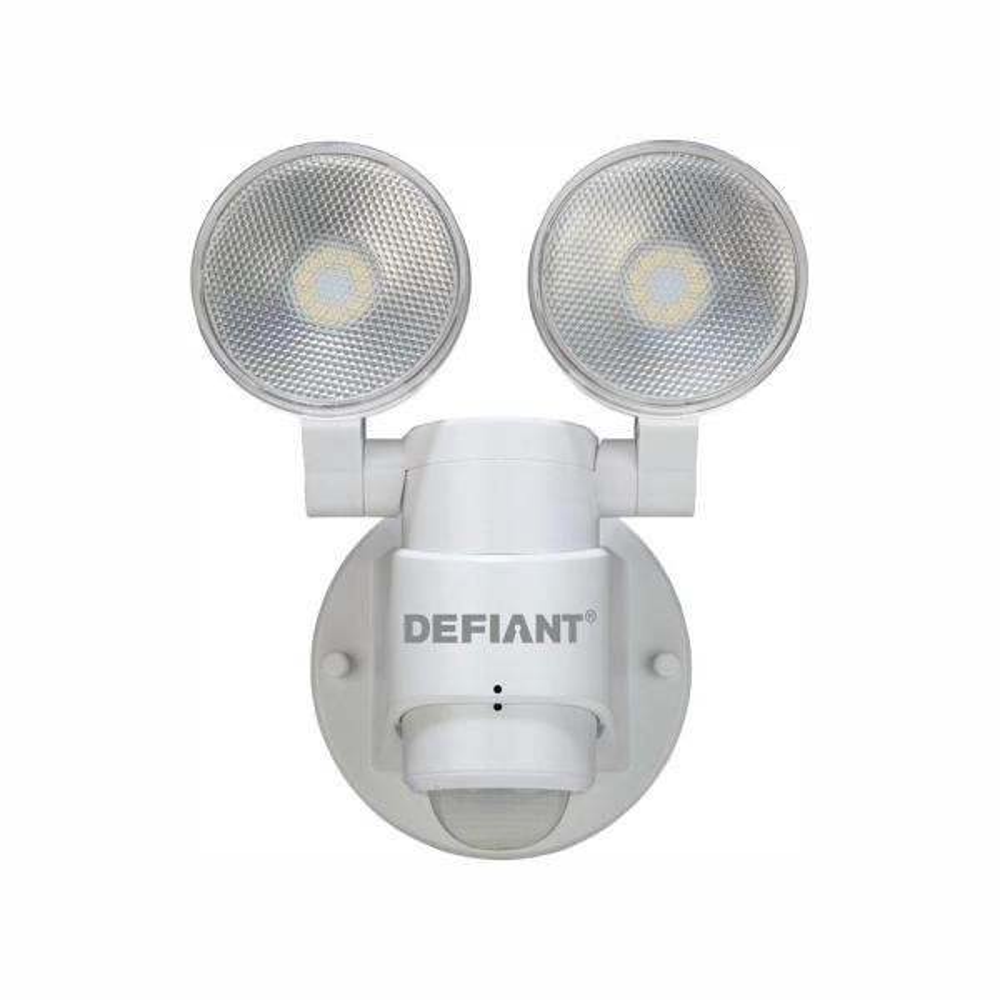 180 Degree 2-Head White Outdoor Flood Light