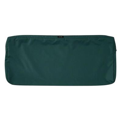 Ravenna 42 in. W x 18 in. D x 3 in. H Patio Bench/Settee Cushion Slip Cover in Mallard Green