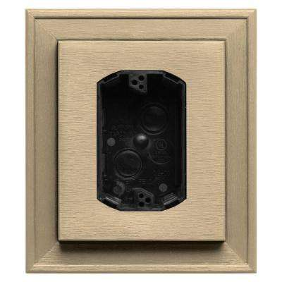 7 in. x 8 in. #012 Dark Almond Electrical Mounting Block