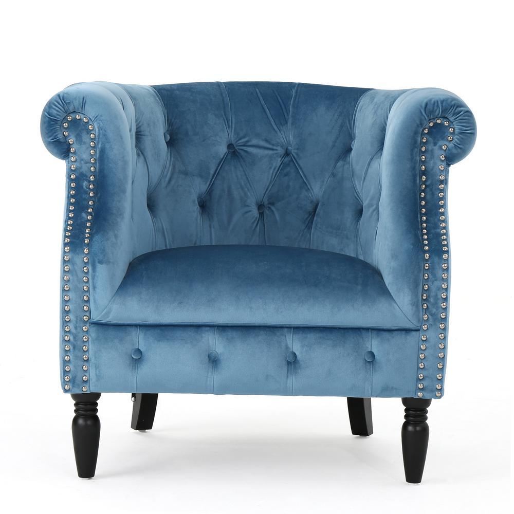 Akira Aqua Upholstered Club Chair