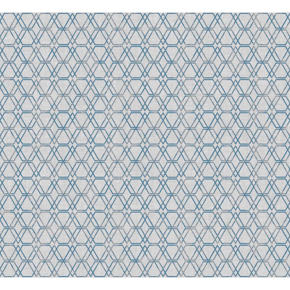 Sirpi Esagono Grey Geometric Wallpaper
