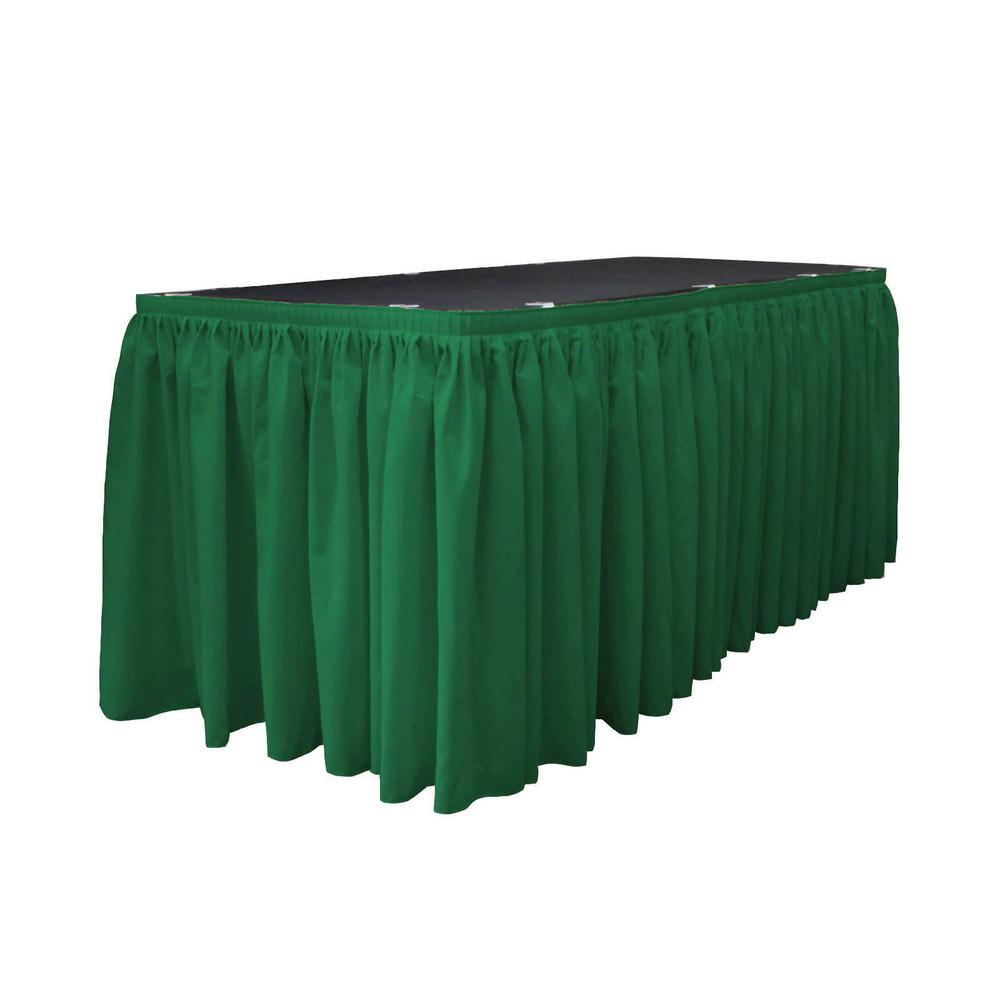 21 ft. x 29 in. Long Emerald Green Polyester Poplin Table