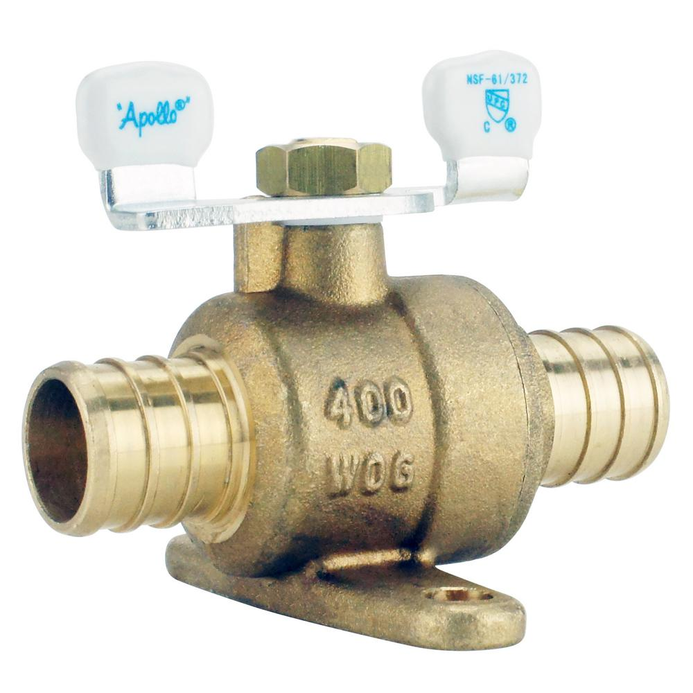 3/4 in. Brass PEX Barb Ball Valve with Tee Handle and