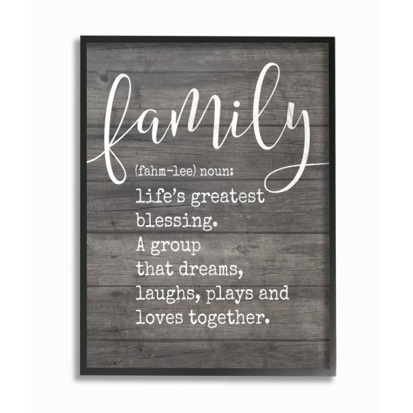 The Stupell Home Decor Collection 16 In X 20 Family Definition Planked