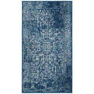 Evoke Navy/Ivory 2 ft. x 4 ft. Area Rug