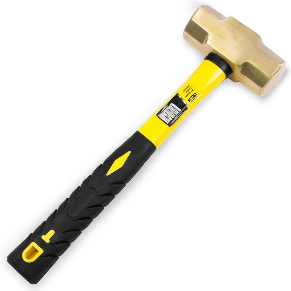 3 lbs. Brass Sledge Hammer with Fiberglass Handle