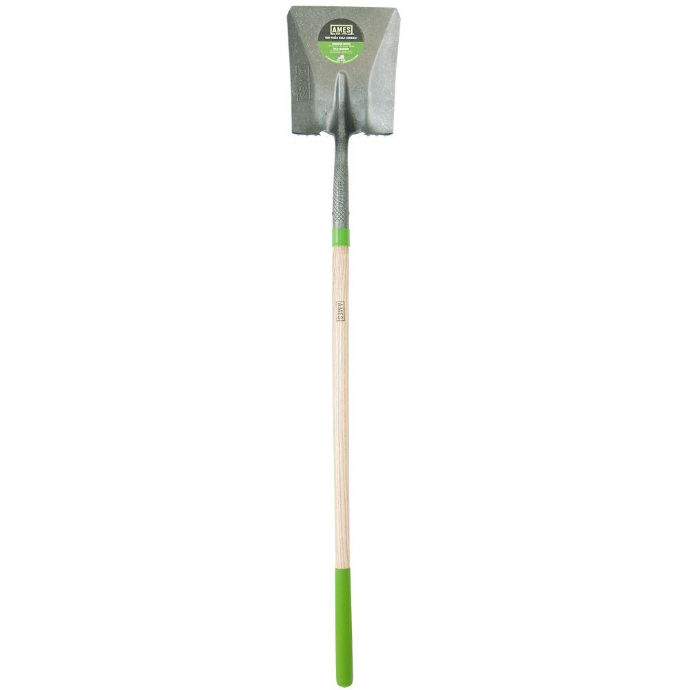 48 in. Wood Handle Square Point Shovel