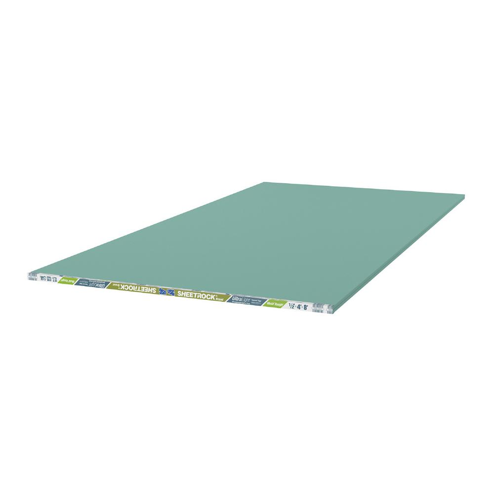 Usg Sheetrock Brand 1 2 In X 4 Ft 8 Ultralight Mold Tough Drywall 14302111708 The Home Depot